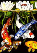 Koi Pond Giclee (4 Sizes available)