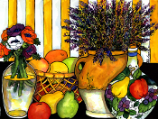 Lavender & Fruit Art Tile