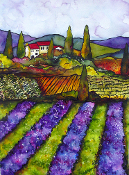 Beautiful Tuscan/Provence fields and cottages