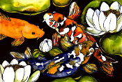 3 Koi Giclee (3 Sizes available)
