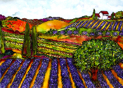 Lavender & Wine Fields Giclee (3 Sizes available)