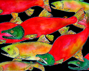 Salmon Mates Giclee (4 sizes available)