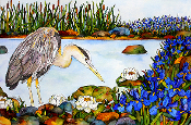 Heron and Iris Cutting Board (2 Sizes)