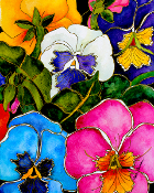 Pansies Two Art Tile