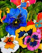 Pansies One Art Tile
