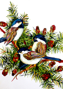 3 Chickadees Cutting Board (2 sizes available)