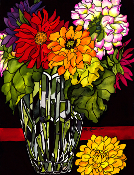 Dahlia Bouquet Giclee (4 Sizes available)