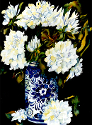 White Dahlias Giclee (4 Sizes available)