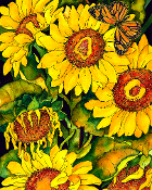 Girasoli Giclee (Sunflowers)  (4 Sizes available)