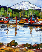 Peaceful Harbor   Art Tile