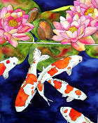 5 Koi  Giclee (4 Sizes available)