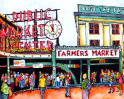 Pike Place Market Art Tile