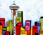 Space Needle Giclee (3 Sizes available)