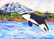 Orca Leap Art Tile