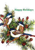 3 Chickadees Holiday Flag (1 Sizes)