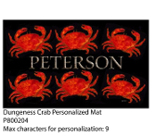Dungeness Crab Personalized Floor Mat