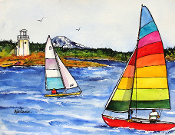 Harbor Sailing Giclee (4 Sizes available)