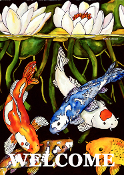 Koi Pond Flag (2 Sizes)