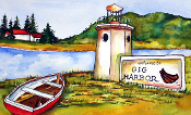Gig Harbor Lighthouse Floor Mat