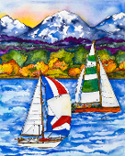 Point of Sail Art Tile