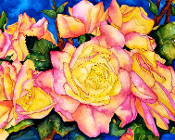 Roses of Peace Art Tile