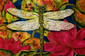 Dragonfly & Lotus Giclee (4 Sizes available)