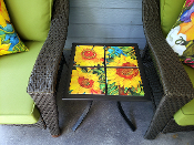 Golden Sunflowers Custom Table