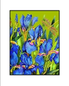 Blue Iris (Green) Giclee (3 Sizes available)