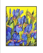 Blue Iris (Yellow) Giclee (3 Sizes available)