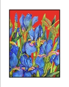 Blue Iris (Red) Giclee (3 Sizes available)
