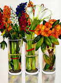 3 Bouquets Giclee (4 Sizes available)
